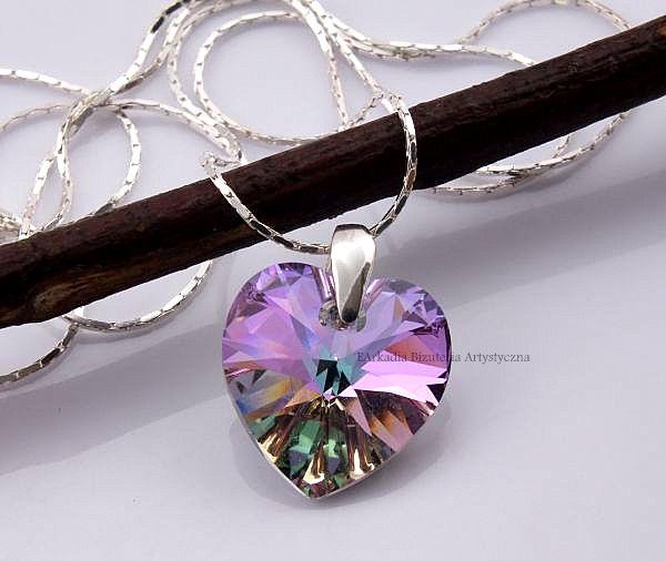 Aktualne Naszyjnik z kryształem Swarovskiego® serce 14 mm VY79