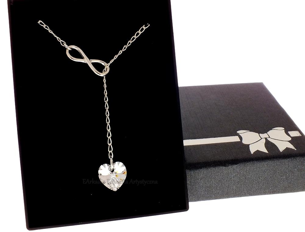 Zaktualizowano Naszyjnik przewlekany krawat infinity srebro 925 GL92